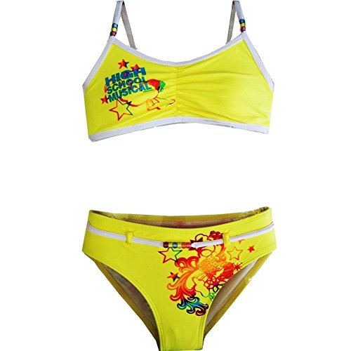 High School Musical Big Girls Yellow Two Piece Bikini Swimsuit 7-16