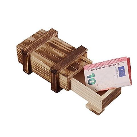 Zauberhafte Holzgeschenkbox (klein) - zum kreativen Verschenken von Gutscheinen, Schmuck und Geld