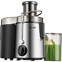 Aicok Licuadoras Para Verduras y Frutas Acero Inoxidable, Licuadora Exprimidora de Boca Ancha de 65mm, Cuenta con 3 Velocidades, Pie y Base Antideslizante, Libre de BPA
