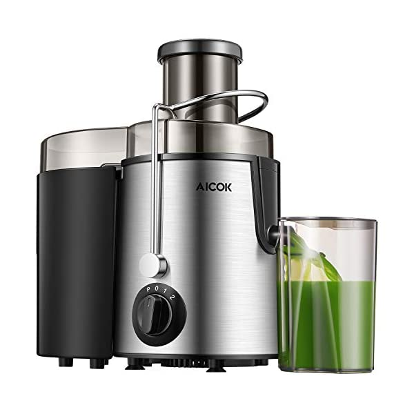 Aicok Juicer Juice Extractor Whole Fruit Juicer High Speed for Fruit and Vegetable Dual Speed Setting Centrifugal Fruit Machine Powerful 400 Watt Centrifugal Juicer with Cleaning Brush 41BIiZx6ZNL