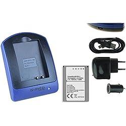 Batterie + Chargeur (USB/Auto/Secteur) pour BLN-1 / Olympus PEN E-P5 / OM-D E-M1, E-M5, EM-5 Mark II / PEN-F