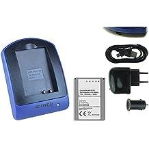 Batteria + Caricabatteria (USB/Auto/Corrente) per BLN-1 / Olympus PEN E-P5 / OM-D E-M1, E-M5, EM-5 Mark II / PEN-F