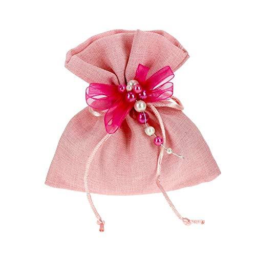 Bomboniere Fai da Te Kit bomboniere Rosa Completo di Sacchetti e Decorazioni Confezione da 20 Pezzi