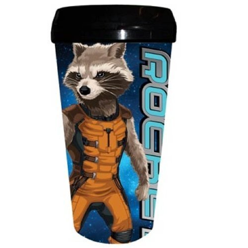 Guardians of the Galaxy Rocket Raccoon Plastic Travel Mug by Silver Buffalo