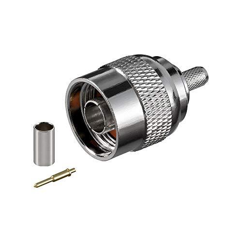 Goobay 11361 N-Stecker Crimp mit Gold-Pin für RG 58 Kabel, Durchmesser: 5,2 mm