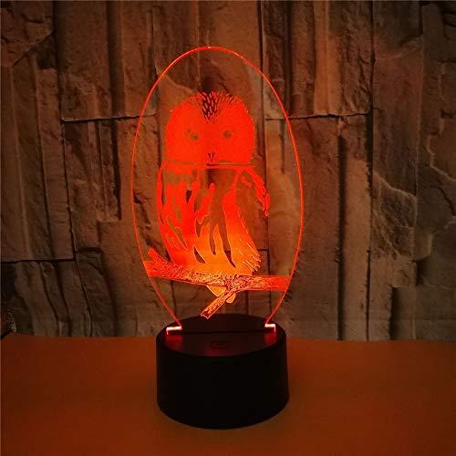 Lampes 3D,Star Trek Cartoon,7 couleurs Changement tactile/commutateur à distance Decoration Lampes de décoration de bureau Anniversaire Présent Baby Light, et câble USB & piles AA