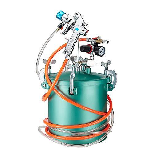 10L Farbsprühsystem Druckluft-Farbspritzpistole, Spritzpistole, Hand Held Paint Sprayer mit Manometer und Farbrohr for Wände und Decken Zäune malen bunte Latexfarbe (Size : 2.0caliber)