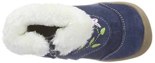 Rose & Chocolat Ss 009, Chaussures Marche Bébé Fille Blau (Suede Navy Boots)