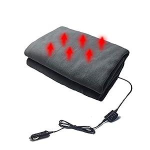 Comaie 12v ultraweiche luxuriöse Deluxe elektrische Bequeme Polarfleece beheizte Autodecke warme gemütliche Reiseheizdecken intelligente Überhitzungsschutz-Schmusetuch-Spezialfahrzeug