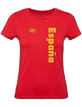 Green Turtle T-Shirts Camiseta para Mujer - Apoya a la Selección Española en el Mundial de Fútbol!