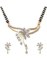 YouBella Latest Traditional Jewellery Gold Plated Jewellery Set for Women (Golden)(YBMS_7504)