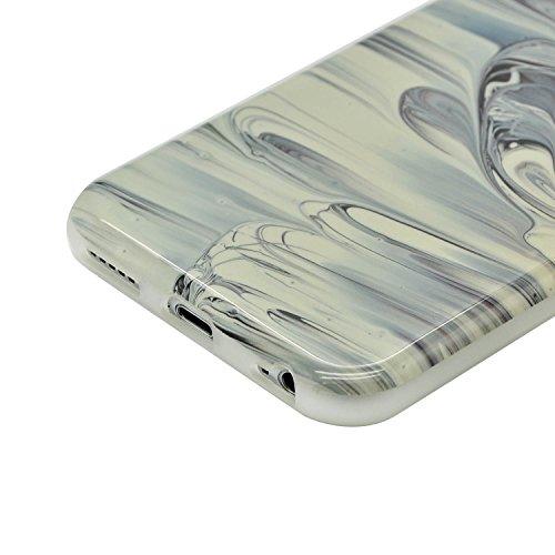 iPhone 5S Marmor Hülle,iPhone 5 Marble Case,Sunroyal Kreative Stylish Schickes Retro Elegant Schön Luxus Pure Schwarz Grain Stein Pattern Silikon Handyhülle Weiß Stein Glamour Ultradünn Marble Malerei Pattern 29