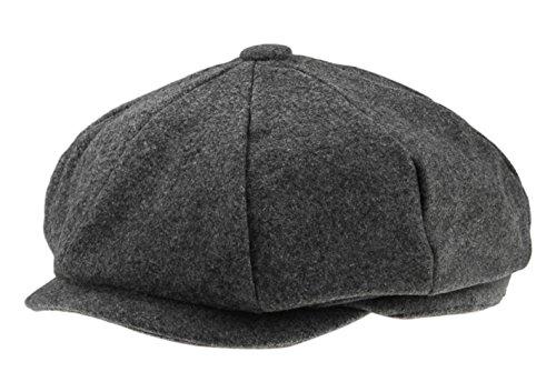 Fakeface Herren Klassische 8-Panel Wolle Tweed Nachrichten Gatsby Ivy Cap Golf Cabbie Driving Hat Einheitsgröße # 61 Tweed Ivy Hat