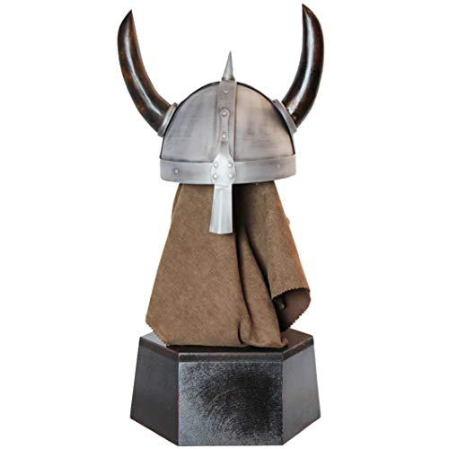mdekoration, Wikingerhelm Komplett tragbar Mittelalterlicher Wikingerhelm Kostüm Hut Zubehör Spielen ()