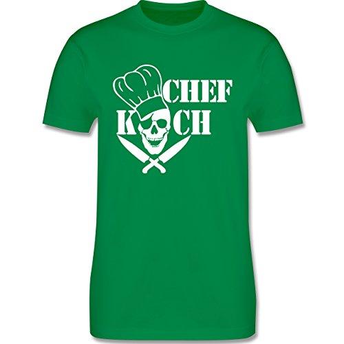 Küche - Chefkoch Totenkopf Skull - Herren Premium T-Shirt Grün