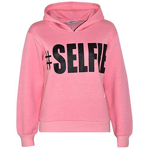 A2Z 4 Kids® Kinder Mädchen Jungen Sweatshirt Tops Baby Rosa Designer - #Selfie Hoodie Baby Pink_7-8 -
