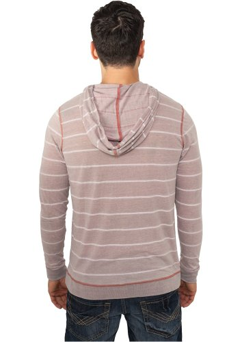 Striped Burnout Hoody Mehrfarbig (Ruby/Wht 00369)