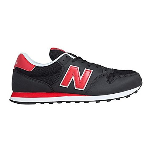 New Balance GM500, Sneakers basses homme Noir (Black / Red)