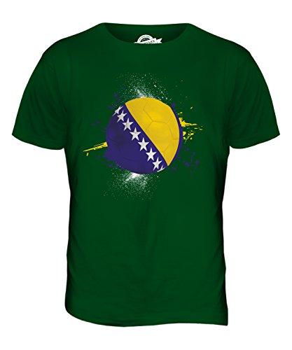 CandyMix Bosnien Und Herzegowina Fußball Herren T Shirt Flaschengrün