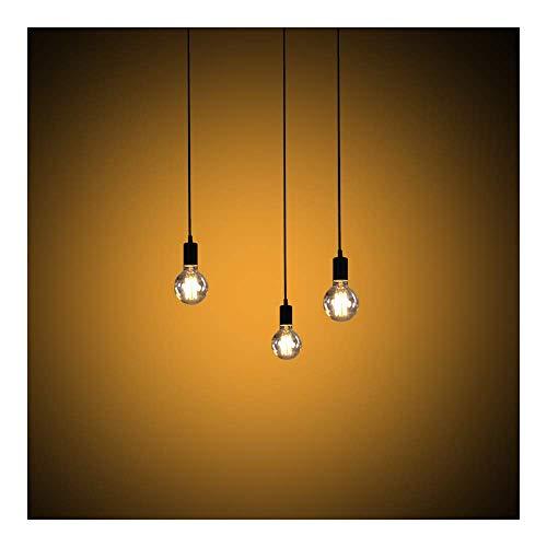 Modrad Kronleuchter Spinne Lampe Vintage Retro Hängend Lampen Industrial Pendelleuchte für Küche Schlafzimmer und Hotel Dekoration (3 Köpfe)