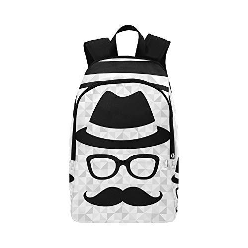 Hipster Man Casual Daypack Reisetasche College School Rucksack für Herren und Frauen (Mann Hacke Kostüm)