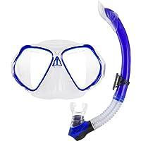 Ocean Pro Seahorse Junior Mask & Snorkel set W/Carry Bag (blu) - Junior Snorkel Set