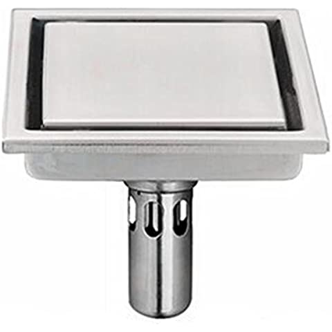 odore scarico a pavimento tenta di impedire piastra di base dei parassiti sopra lo scarico pavimento del bagno in acciaio inox Stealth piazza,c