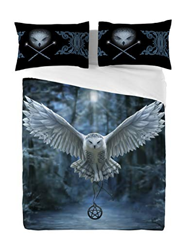 AWAKEN YOUR MAGIC Duvet & Pillows Case Covers Set for Double/Twin Bed Artwork By Anne Stokes by Wild Star@Home Twin Hearts Wild