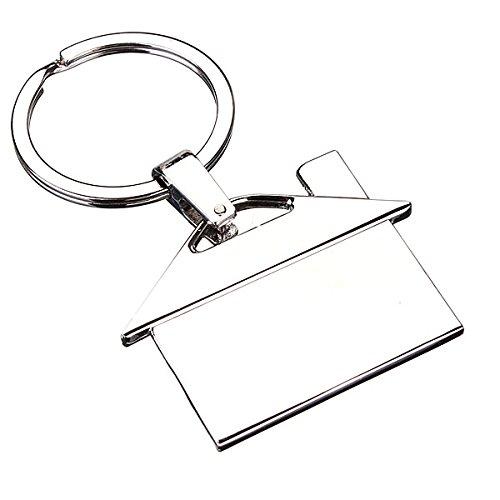 Alamor Creative Metal Chrome Maison Porte-Clés Modèle Porte-Clés Pendentif Cadeau Decor Argent Alamor