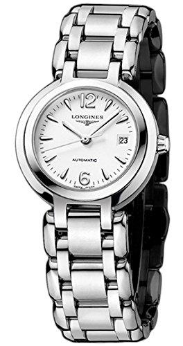 Longines Femme Bracelet & Boitier Acier Inoxydable Automatique Cadran Blanc Analogique Montre L81114166