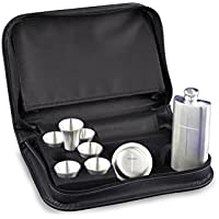 Frank Wright Mundy & Co Ltd 8 Piece Pewter Home Communion Set in Zipped Case