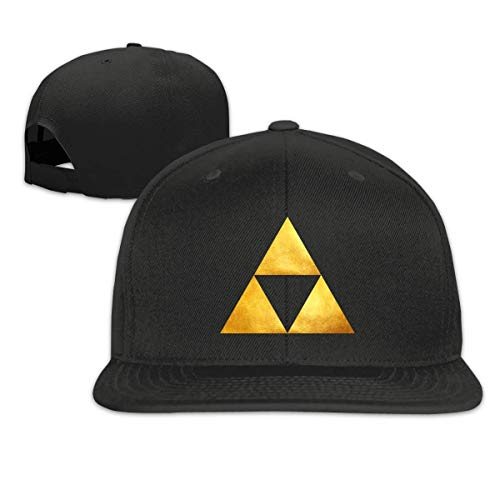 Kslae Zelda Triforce Golden Snapback Hat Ajustable