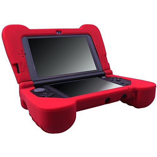Pandaren® silicona mano agarre Fundas Protectores para NEW 3DS XL ROJO (no...