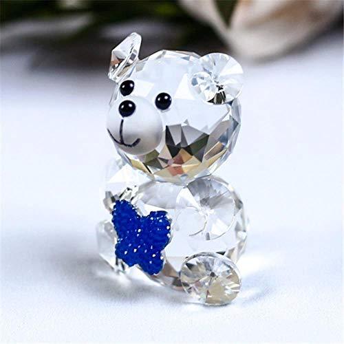 Cristalli Soprammobili Pezzi Da Collezione Famiglia Crystal Animal Cute Teddy Bear Figurine Miniature Artigianato In Vetro Ornamenti In Vetro Per Regali Accessori Per La Decorazione Domestica, Farfall