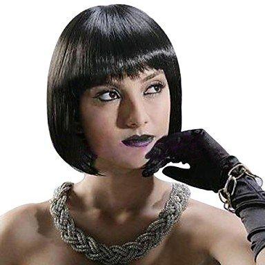 OOFAY JF ® Senza cappuccio corto bob di alta qualità Neri Lisci parrucca sintetica dei capelli