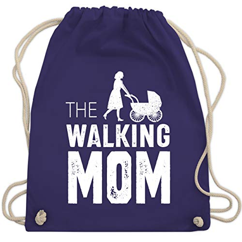 Muttertag - The Walking Mom weiß - Unisize - Lila - WM110 - Turnbeutel & Gym Bag