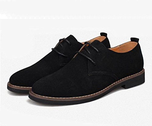 WZG Fall beiläufige Schuhe der Männer, lederne Schuhe der britischen Männer Wildlederschuhe beiläufige Schuhe des Geschäfts 9.5 Black