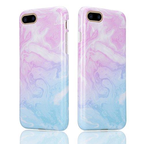 Für iPhone 7 Plus Hülle, Sunroyal TPU Case Flexible Weich Silikon Gel Ultra Slim Schutz Cover Kratzfeste Dauerhaft Schock-Beweis Bumper Etui Rundum-schutz Marmor Handyhülle für iPhone 7 Plus 5.5 Inch- Pattern #6