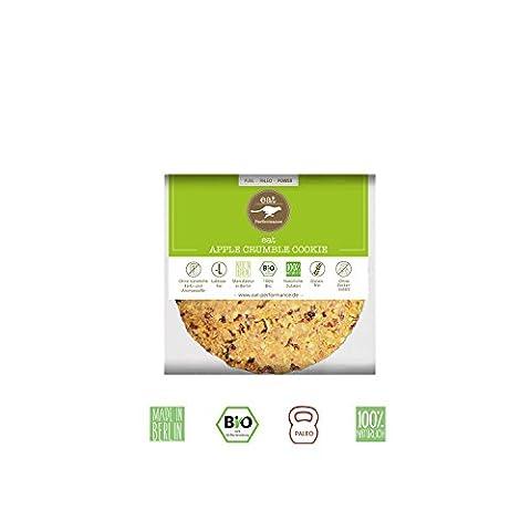 eat APPLE CRUMBLE COOKIE von eat Performance (15x 40g) || Bio | Paleo | ohne Zuckerzusatz | glutenfreie Kekse | laktosefrei | low carb | eiweißreich | superfood | clean eating