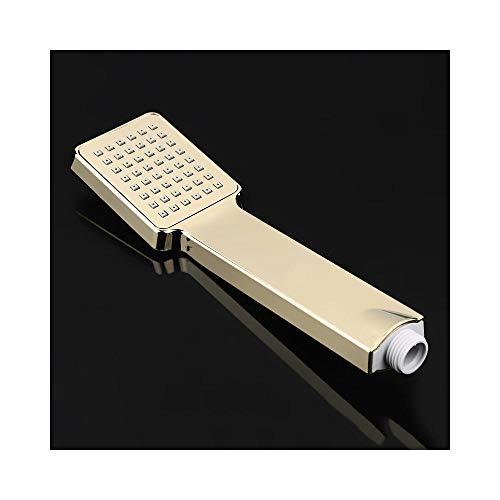 ZHANGHUIQIN Oxygenics wassersparender Duschkopf aus verchromtem Kunststoff erhöht den Druck im quadratischen Handbrausebad,Gold (Oxygenics-duschkopf)