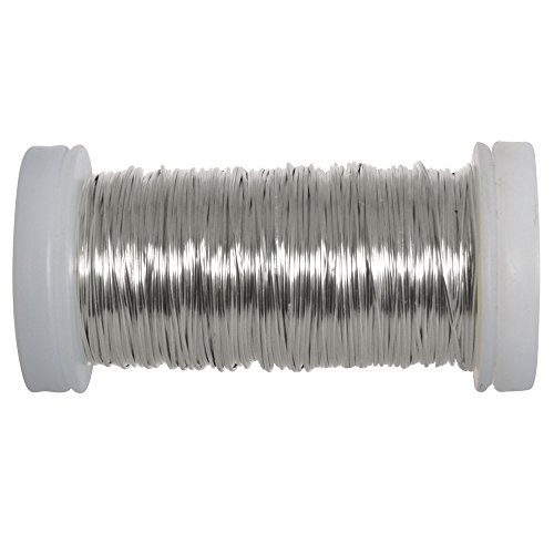 Rayher Hobby 24078000 Silberdraht, Spule, 50 m, 0,5 mm ø