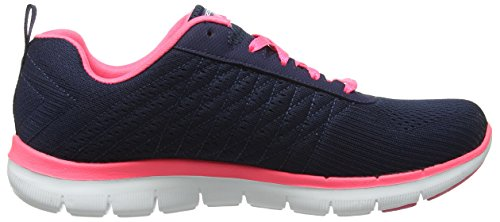 Skechers Flex Appeal 2.0 Break Free, Baskets Basses Femme Bleu (Nvhp)