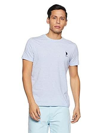 e7adceab8c810d ... US Polo Association Athleisure Men s Solid Regular Fit T-Shirt  (I633-901-PL Pale