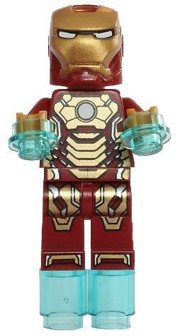 LEGO Superheroes: - Iron Man 3 - Mk 42 Armour Minifiguren (mitout face Printed)
