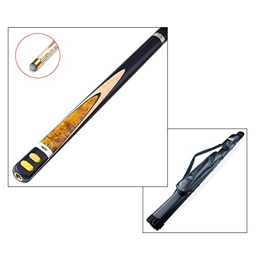 ZXH HETAO Wolf Pool Queue, handgefertigte 3/4 Rute durch 10 mm Tip Snooker schwarz 8 Club American Billard Bar mit Rod Case Rubber Cushion Indoor (Farbe : #1)