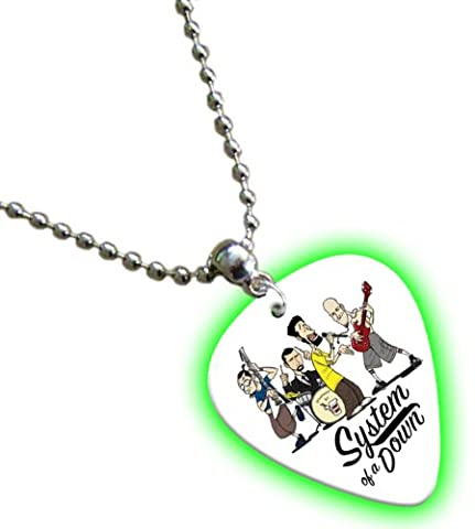 System of a Down Glow Guitar Pick Collier Band Médiator