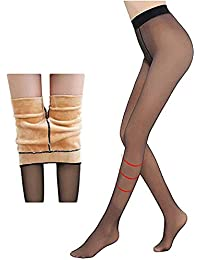 ZITOOP Perfect Legs Fake Translucent Warm Fleece Tights - Damen Thermo Strumpfhosen,Women Winter Thick Slimmer and Warm Pantyhose