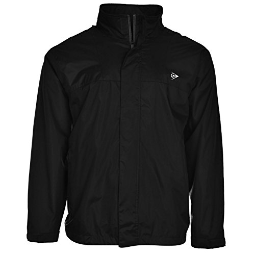 Dunlop Herren Wasserdicht Jacke Golf Sportjacke Outdoorjacke Windjacke Schwarz XXX Large (Golf Blazer)