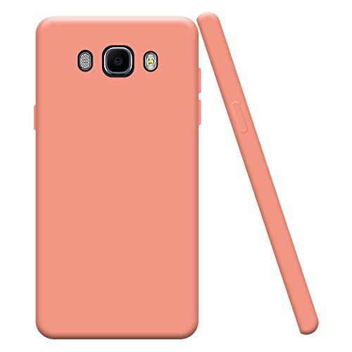 Hülle zum Samsung Galaxy J7 2016 SM-J710F, Silingsan Handyhülle Bumper Back Case Cover Silikon Case Candy Farben Hülle Ultradünnen Flexibel Weich Schutzhülle Kratzfeste Stoßfeste Tasche - Rosa