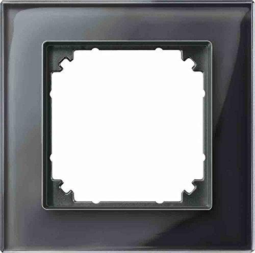 Preisvergleich Produktbild Merten 489103 M-PLAN-Echtglasrahmen 1f. onyxschwarz